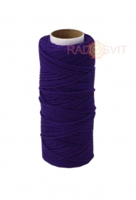 Cotton twine purple, 45 meters - 17483