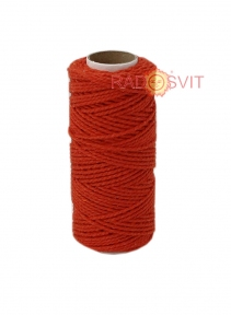Cotton twine red, 45 meters - 17484