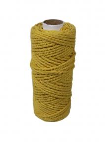 Шнур бавовняний жовтий, 50 метрів