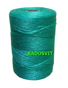 Green polypropylene twine, 1200 meters - 17343