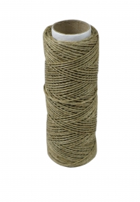 Polished linen twine, natural color, 50 meters - 17441