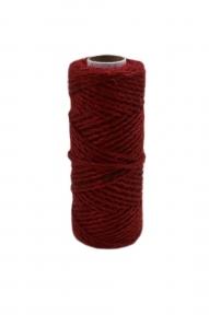 Jute cord red, 50 meters
