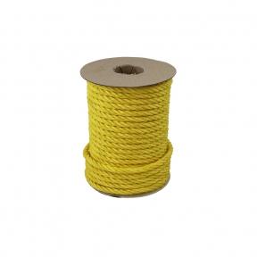 Polypropylene rope diameter 7mm yellow, 25 meters