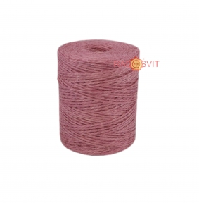 Jute twine sweet powder color (light rose), 250 meters - 17508