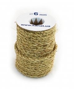 Sisal rope Ø 6mm, 25 meters - 17308
