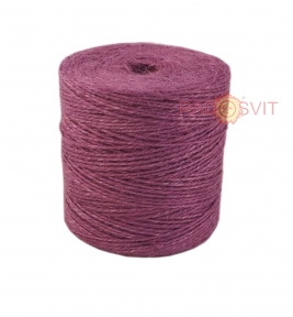 Jute twine in light purple color, 350 meters - 17502