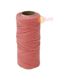 Cotton twine coral, 45 meters - 17476