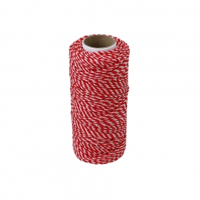 Polypropylene cord white-red, 80 meters - 17558