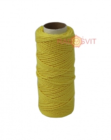Cotton twine yellow, 45 meters - 17474