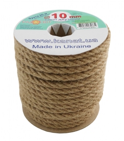 Jute rope Ø 10mm, 25 meters - 17302