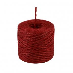 Jute twine in red color, 45 meters