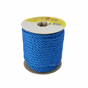 Polypropylene rope diameter 9mm blue, 25 meters - 17567