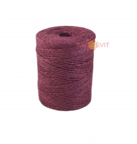 Jute twine in light purple color, 250 meters - 17503