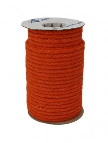 Канат джутовий помаранчевий, діаметр 6мм, бухта 25 метрів