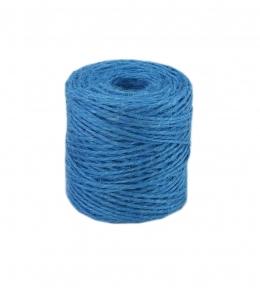 Jute twine in light blue color, 90 meters