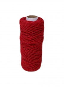Шнур бавовняний червоний, 50 метрів