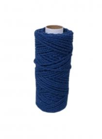 Cotton cord black, 50 meters