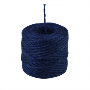 Jute twine in blue color, 45 meters - 17467