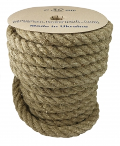 Linen rope Ø 30mm, 25 meters - 17329