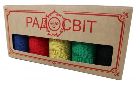 Набір - Шпагат бавовняний однокольоровий - 5 штук по ціні 4-х - подарунковий для майстринь