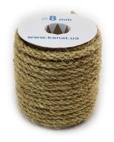 Sisal rope Ø 8mm, 25 meters - 17309