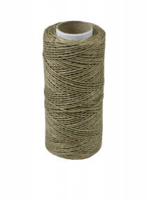 Polished linen twine, natural color, 100 meters - 17442
