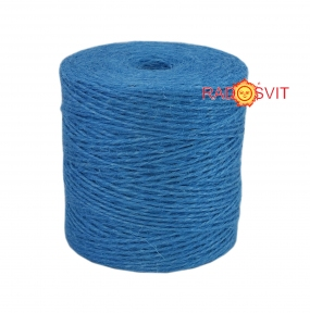 Jute twine light blue, 350 meters - 17512