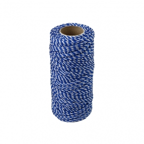 Polypropylene cord white-blue, 80 meters - 17557