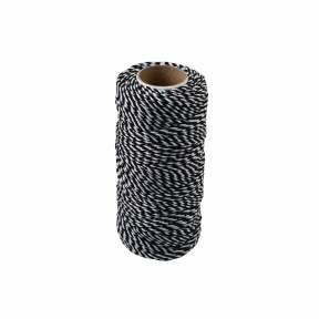 Polypropylene cord white-black, 80 meters - 17555