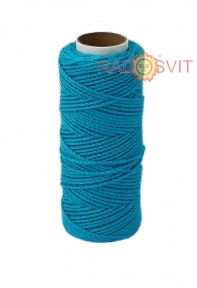 Cotton twine blue, 45 meters - 17479
