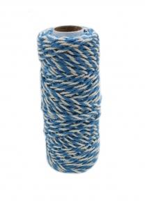 Шнур джут-бавовна блакитно-білий, 50 метрів