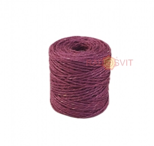 Jute twine in light purple color, 90 meters - 17504