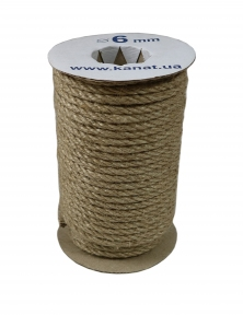 Jute rope Ø 6mm, 25 meters - 17300