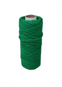Шнур бавовняний зелений, 50 метрів