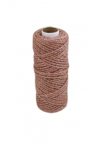 Jute cord natural-sweet powder, 50 meters - 17576