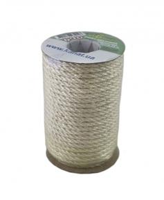 Bleached jute rope, diameter 6mm, coil 25 meters
