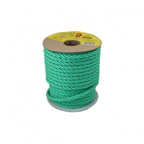 Polypropylene rope diameter 9mm green, 25 meters