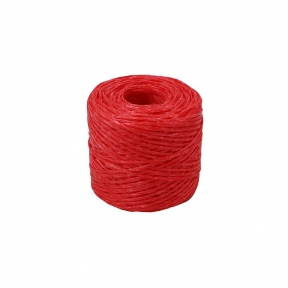 Polypropylene twine red, 100 meters - 17573