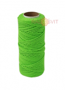 Cotton twine, green, 45 meters - 17475