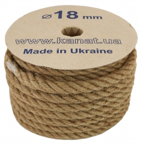 Jute rope, diameter 18mm, 25 meters - 17437