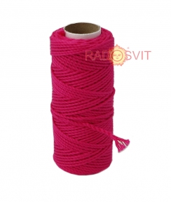 Cotton twine fuxia, 45 meters - 17473