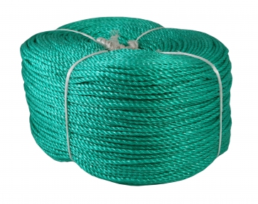 Polypropylene cord green, diameter 4mm, 400 meters - 17365