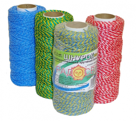 Coloured polypropylene cord, 80 meters - 17284