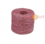 Jute twine sweet powder color (light rose), 45 meters