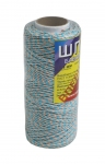 Cotton twine, peach-blue, 100 meters
