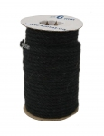 Jute rope in black color, pure jute yarn, diameter 6mm, 25 meters in coil