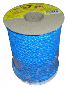 Polypropylene rope Ø7mm, coil 25 meters