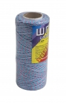 Cotton twine, roes-blue, 100 meters