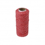 Polypropylene cord white-red, 80 meters