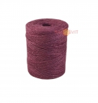 Jute twine in light purple color, 250 meters
